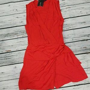 NWT Zara sleeveless shorts romper size XS Red